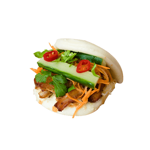 Foto Steamed bao lemongrass chicken
